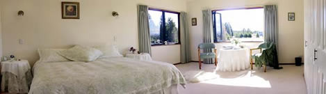one of the guest bedrooms -  Heartland Lodge, New Zealand