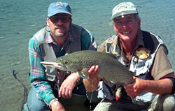 Steve Carey - another great catch and another happy fisherman - fly fishing - NZ